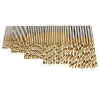 50 Stueck 1/ 1.5/ 2.0/ 2.5/ 3 mm Titan Beschichteter HSS Bohrer Set J2T9