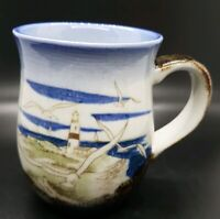 Vtg Hand Crafted Otagiri Originals Japan Lighthouse Seagulls Coffee Mug Cup