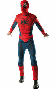SPIDERMAN Adults Fancy Dress Marvel The Avengers Superhero Men's Costume Outfit