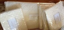 Pottery Barn Washed Velvet Queen 2 Standard Shams Quilt Set Ivory Classic New