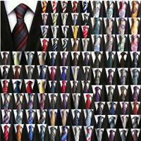 Men's Wedding Work Necktie Black Red Blue Stripe Paisley Floral Checks Silk Tie