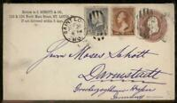 USA 1885 St Louis Germany Upfranked Stationery Entire Cover Transatlantic 95655