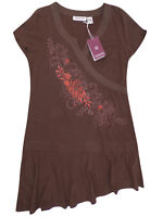 Redoute Embroidered Drop Hem T-Shirt Top / Dress Plus Sizes 14-32