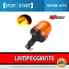 LAMPEGGIANTE LED ROTANTE A INNESTO 12V 24V EMERGENZA PER TRATTORE CAMION AMBRA