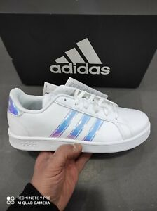 Scarpe da donna Adidas GRAND COURT K FW1274 sneakers casual sportive bianco