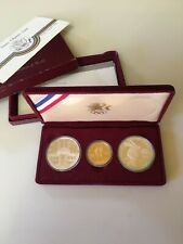 US  Olympic Silver & Gold 3-Coin Commemorative Proof Set 1983/1984