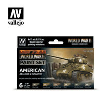 17ml Bottle WWII American Armour Infantry VALLEJO HOBBY PAINT MODELING SET 70203