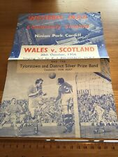 More details for wales v scotland 20th of october 1956 —— song sheet——-
