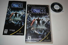 Star Wars The Force Unleashed Sony Playstation PSP Video Game Complete
