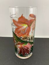Michel Design Works Gorgeous Amaryllis Flower Naturalist's Library Glass Vase