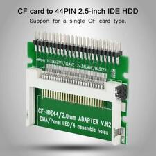"CF Compact Flash Memory Card to 44pin 2.5"" IDE Hard Drive SSD Converter Adapter"
