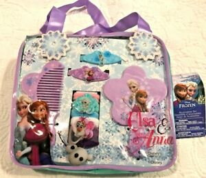 NEW DISNEY FROZEN HAIR ACCESSORIES SET MIRROR COMB BARRETTES TIES SISTERS FOREVE
