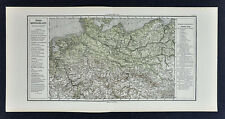 1880 Sydow Physical & Political Map - North Germany Prussia Berlin Frankfurt