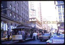 Original Kodachrome Cable Car SFMR San Francisco Railway Streetcar Rail RR Kodak