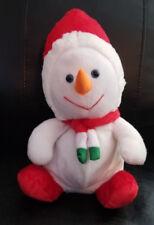 """Toymax Snowman Wearing Red Hat w/Blue Eyes stuffed/plush - 15"""""""