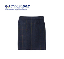 Joules Sheridan Tweed Skirt Navy