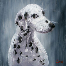 100%Hand-painted ART Oil Painting Animal lovely Dog 16*20inch Decoration canvas