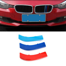 M Tri-Color Front Kidney Grille ABS Insert Trims For BMW 3 Series 320i 325i 335i