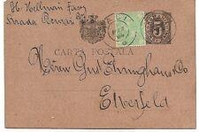 Romania: 1894; Postal Stationery H&G 21, Used to Germany, XF, EB0214