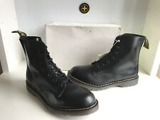 Rare! Dr. Martens Tredair Black Leather Lace Up Derby Boots Size UK 9 *England