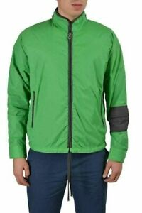 Galliano Green Full Zip Men's Windbreaker Jacket US s IT 48