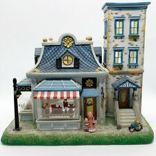 Read Partylite Olde World Village #6 Toy Shoppe Hand Painted Ceramic House As Is