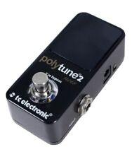 TC Electronic PolyTune 2 Noir Mini Guitar Tuner Pedal - Black