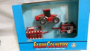 #4446 ERTL FARM COUNTRY CASE TRACTOR AND IMPLEMENT SET  1:43 SCALE