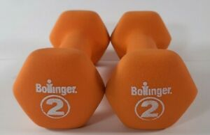 2 Pound lb Dumbbell Set of 2 Coated Weights Hand Bollinger 4 Pounds Total