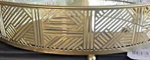 Metal Mirrored Gold Tray D31cm  Home Decoration