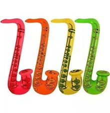 12x Inflatable Saxophone  Blow Up Hen/Stag Fancy Dress Party Musical Instrument
