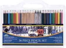 36-Piece Professional Artist Pencil Set Water Color Sketch Graphite Pencils New