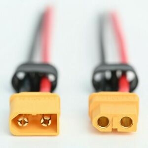 XT60H Male AND Female connectors with 16AWG wire (XT60 with caps) Royal Mail 1st