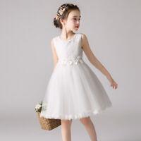 Kid Flower Girl Tulle Tutu Dress Pageant Princess Wedding Bridesmaid Party Dress