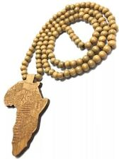 RASTA Wooden Africa Necklace Reggae Marley one love color jamaica chain African