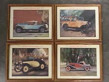 Wood Framed Antique Car Photos Pre- 1940's  LOT OF 4
