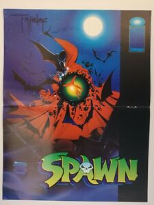 Spawn Pin-Up Poster Signed By Todd McFarlane