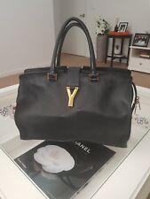 39c17bcd52c6 YSL Yves Saint Laurent Cabas ChYc Black Leather Shoulder Bag  2250