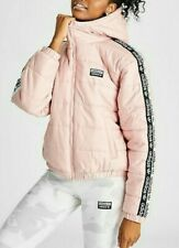 ADIDAS ORIGINALS LADIES TAPE PADDED JACKET PINK LIGHTWEIGHT