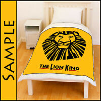 "New The Lion King Broadway Musical Show 80"" x 60"" XL Size Fleece Throw Blanket"