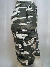 Men's Army Camoflauge Combat 3/4 Cargo Short, Pant, Green/White/Grey Size S-4XL