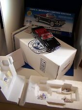 FRANKLIN MINT 19641/2 BLACK CONVERTIBLE FORD MUSTANG MIB BOX COMLETE PAPERS