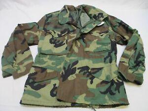 NWT USGI ARMY WOODLAND BDU M-65 FIELD JACKET SMALL/X-SHORT COLD WEATHER COAT