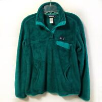Patagonia Re-Tool Snap T fleece pullover Green Women's Size L