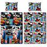 NEW BATMAN VS SUPERMAN CLASH SINGLE DUVET QUILT COVER BED SET DC COMICS BEDDING