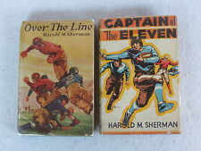 Lot of 2   Harold M. Sherman CAPTAIN OF THE ELEVEN & OVER THE LINE  HC/DJs