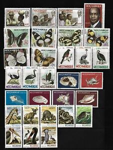 REPUBLIC of MOZAMBIQUE - 30 UNCIRCULATED stamps / 5 Complete Series 1979/1981