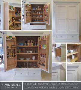 Drinks Cupboard 2 Door 1 Drawer - Hand Painted - Oak & Tulip Wood