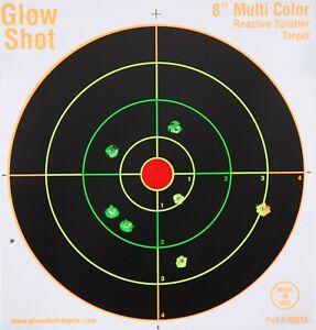 "GlowShot 8"" Heavy Card Reactive Splatter Shooting Targets 25pk, Multi Colour"
