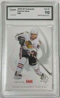 2009-10 SP Authentic Patrick Kane Chicago Blackhawks Hockey Card #88 GEM MT 10